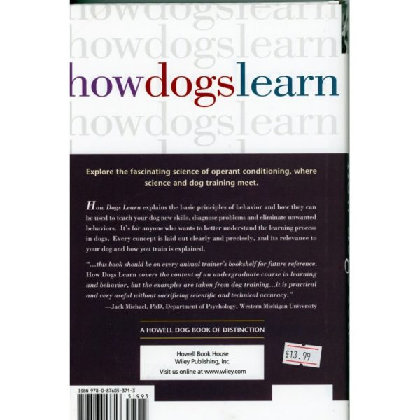 how dogs learn back cover