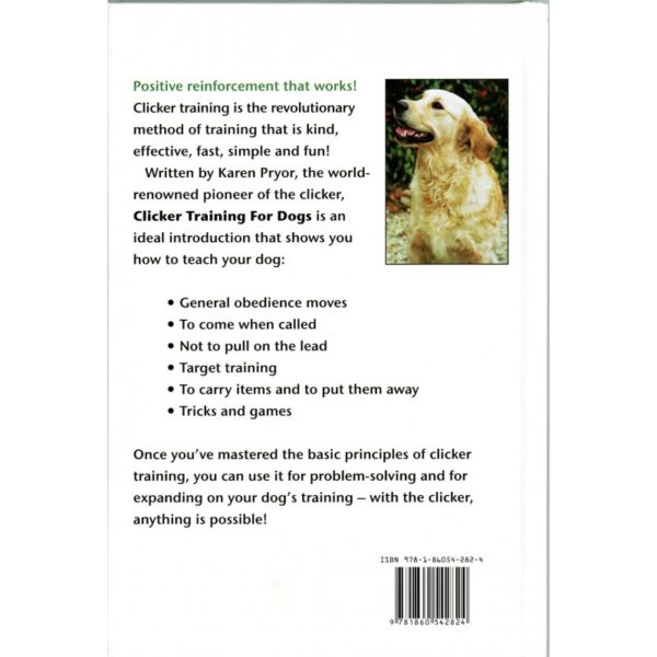 clicker training for dogs back cover