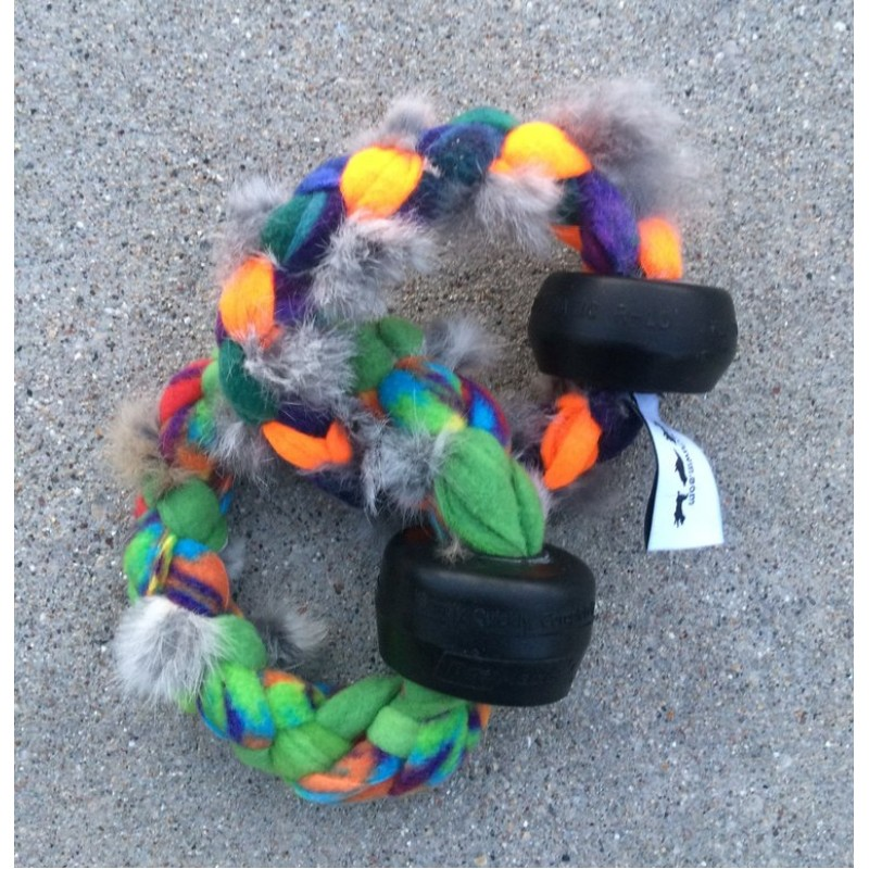 Double udder ring dog toy