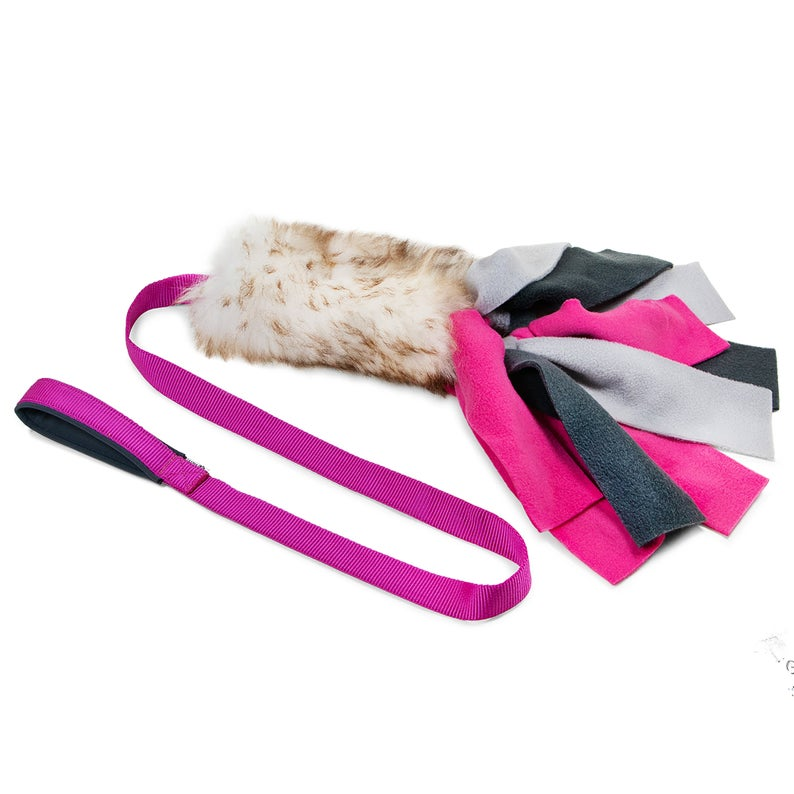 sheepskin chaser with fleece strips